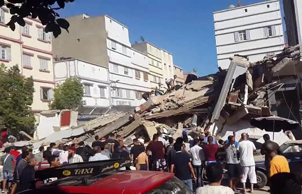 effondrement d'un immeuble à casablanca