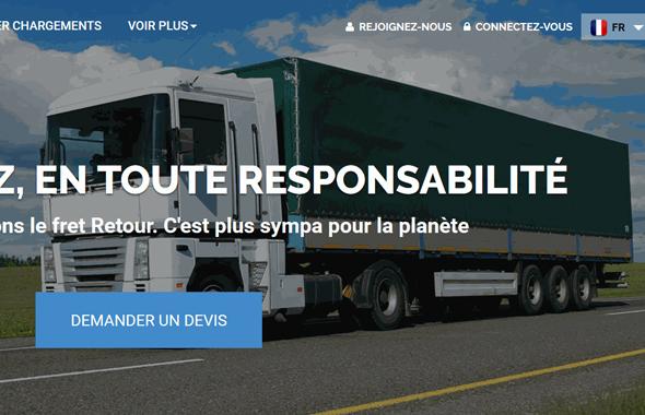 Plateforme transport marchandise
