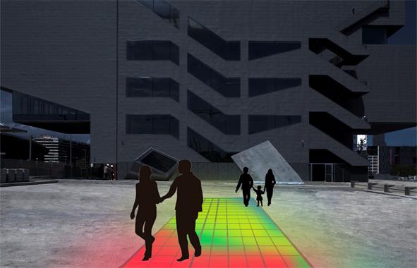 Lumentile : murs bi couleurs