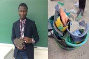 Moussa Thiam crée un ciment à base d'objets recyclés