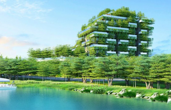 Vietnam, des immeubles drapés de plantes
