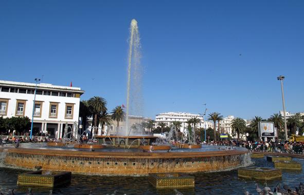 La fontaine emblématique de casablanca