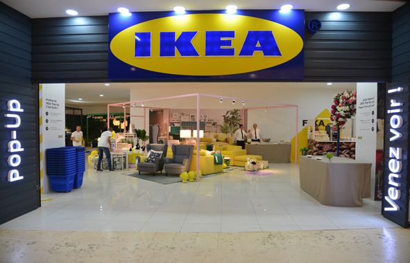 ikea maroc inaugure son premier pop up store au maroc chantiers du maroc. Black Bedroom Furniture Sets. Home Design Ideas