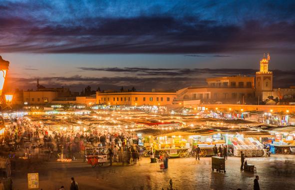l'éclairage public à Marrakech