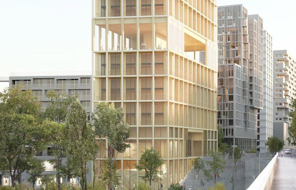 bois : construction à Paris