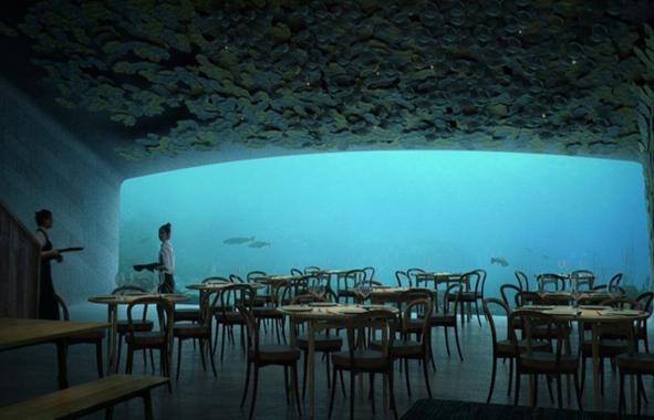 restaurant sous-marin au Norvège